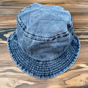 Accessories - Black Comfy Denim Bucket Hat Fisherman Cap Boho